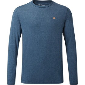 tentree TreeBlend Classic LS Shirt Men dark ocean blue heather